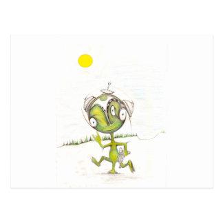 Three Legged Alien Postcard