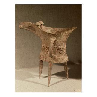 Three-legged 'chueh' vessel for heating wine postcard