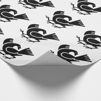 Three Legged Crow Wrapping Paper