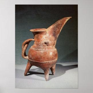 Three-legged 'Kuei' jug, from Weifang, Poster