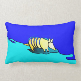 Three-legged, Yellow Armadillo Pillow