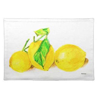 three lemons cloth placemat