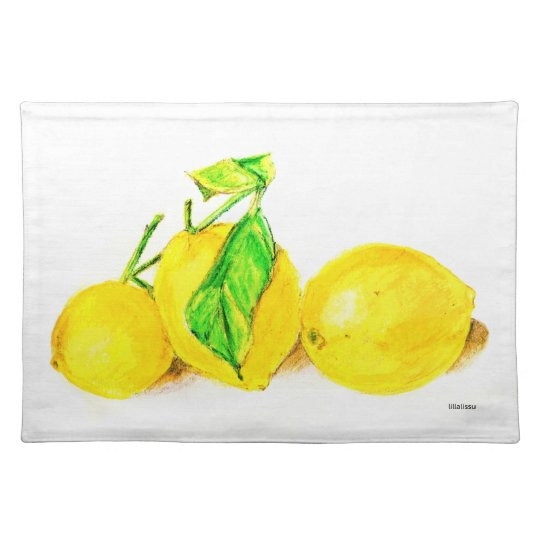 three lemons cloth placemat