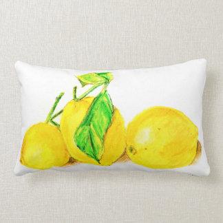 three lemons throw pillows