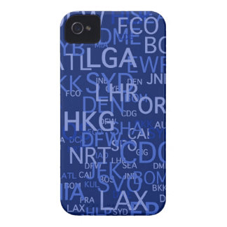 Three-Letter Airport Codes Blue iPhone 4 Cover