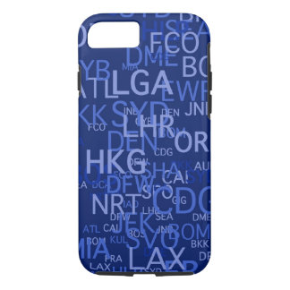 Three-Letter Airport Codes Blue iPhone 7 Case