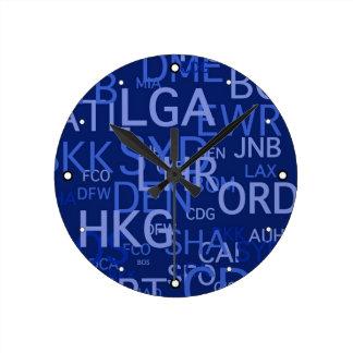 Three-Letter Airport Codes Round Clock