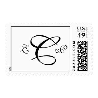 Three Letter Monogram Custom Wedding Postage