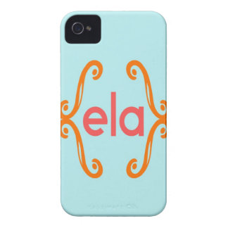 Three Letter Solid Background Monogram iPhone 4 Covers