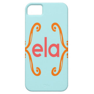 Three Letter Solid Background Monogram iPhone SE/5/5s Case