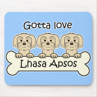 Three Lhasa Apsos Mousepads