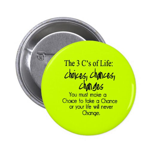 THREE LIFE CHOICES CHANGES CHANCES options Button