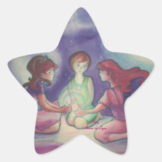 Three Lights Star Sticker