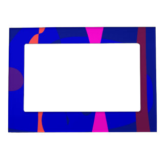 Three Lines Abstract Composition Magnetic Picture Frames
