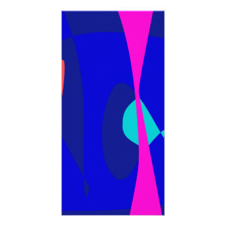 Three Lines Abstract Composition Custom Photo Card
