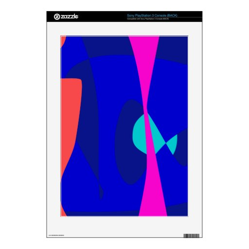 Three Lines Abstract Composition Decal For PS3 Console