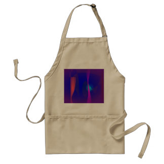Three Lines Abstract Composition with Shading Adult Apron