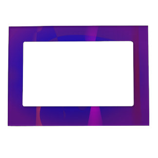 Three Lines Abstract Composition with Shading Photo Frame Magnets