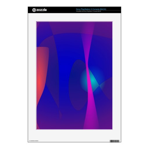 Three Lines Abstract Composition with Shading PS3 Decals