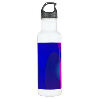 Three Lines Abstract Composition with Shading Stainless Steel Water Bottle