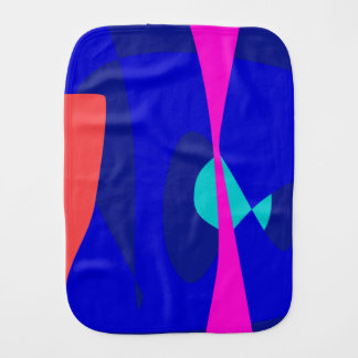 Three Lines Abstract Composition Baby Burp Cloths