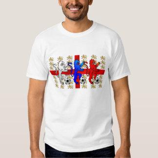 Three Lions Engalnd football vintage t-shirt