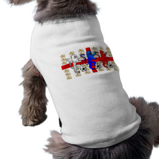 Three Lions football players dog shirts