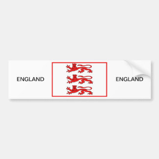 Three Lions of England Bumper Stickers