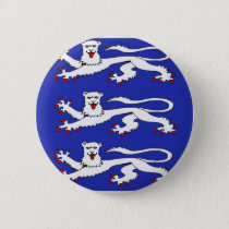 Three Lions of England Button