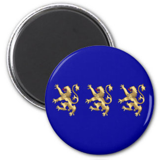 Three Lions of England English pride gifts 2 Inch Round Magnet