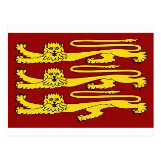 Three Lions of England Postcard