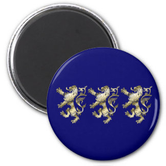Three lions shaded gifts 2 inch round magnet