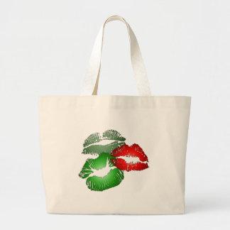 Three Lips Large Tote Bag