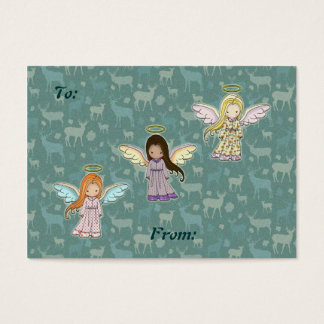 Three Little Angels Christmas Holiday Gift Tags