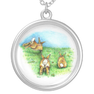 Three Little Binkies Silver Plated Necklace