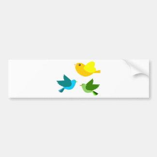Three Little Birds Car Bumper Sticker