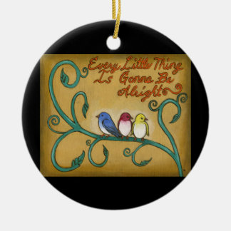 Three Little Birds Ceramic Ornament