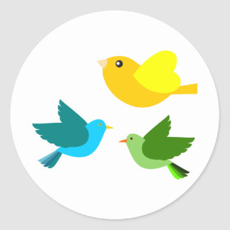 Three Little Birds Classic Round Sticker