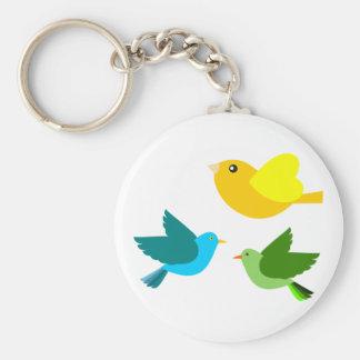 Three Little Birds Key Chain