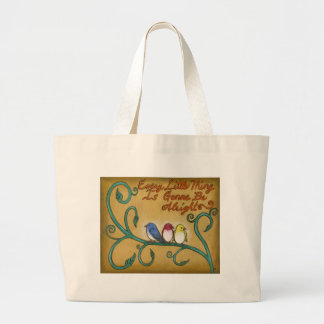 Three Little Birds Large Tote Bag
