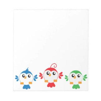 Three Little Birds Memo Note Pads