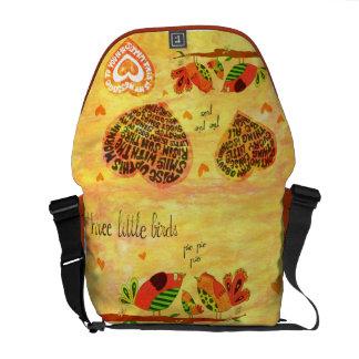 Three Little Birds - song Messenger Bags