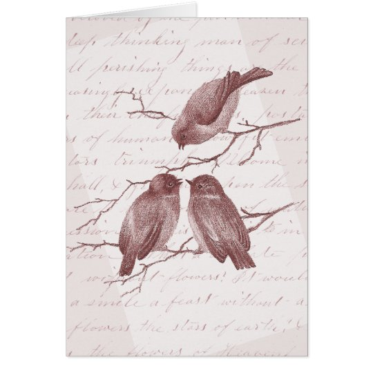 Three Little Birds Vintage Thank You Notes
