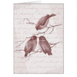Three Little Birds Vintage Thank You Notes Card