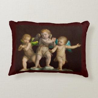 Three Little Cherubs or Angels Decorative Pillow
