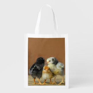 Three Little Chicks Cute Baby Birds Bag Grocery Bag