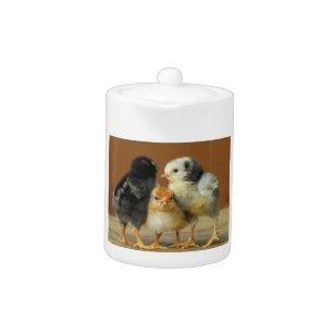 Three Little Chicks - Cute Baby Birds Teapot