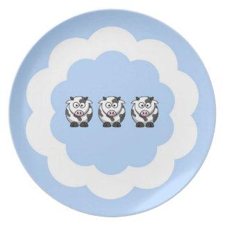 Three Little Cows Plates