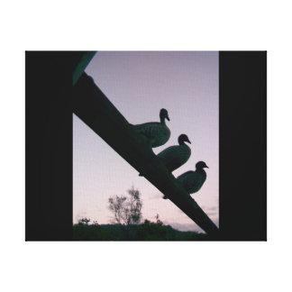 Three Little Ducks> Photo Canvas