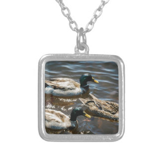 Three Little Ducks Silver Plated Necklace